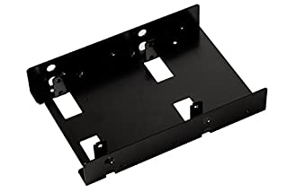 SilverStone Tek 3.5-Inch to 2 X 2.5-Inch Hard Drive HDD SSD Bay Converter, Black (SDP08B) (B008O510FW) | Amazon price tracker / tracking, Amazon price history charts, Amazon price watches, Amazon price drop alerts