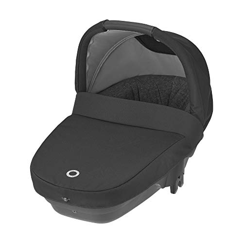 Bébé Confort Nacelle Amber Plus, Légère et Compacte, Naissance à 6 mois (10kg), Essential Black