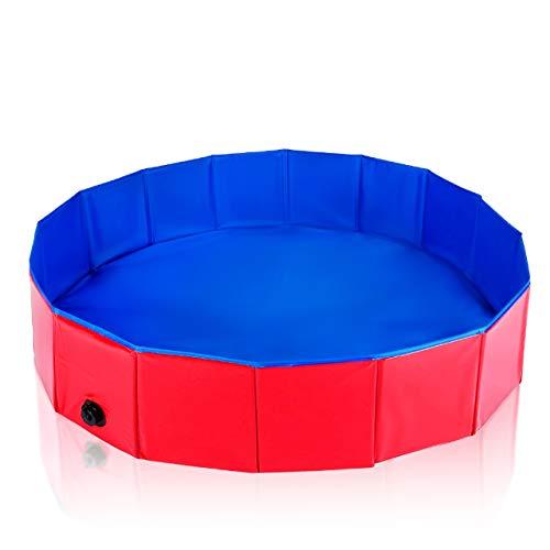 Pet Mania Faltbares Hundepool, Planschbecken Groß 120X30cm - Robustes, Hochwertiges PVC mit Verstärkten Oxford-Wänden - Haustier Schwimmbecken, Badewanne, Welpen Katzen Kinderpool Doggy Pool