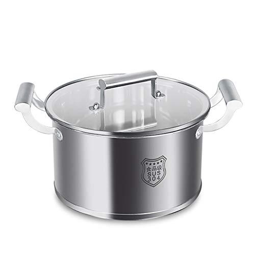 304 Acero Inoxidable Stock Pot, Hogar Espesó Doble Olla De Sopa Inferior, 20-30cm, Conveniente For La Estufa De Gas/Cocina De Inducción Ollas (Size : 26cm)