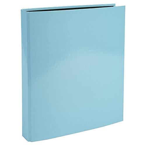 Exacompta 51560E - Archivador de 4 anillas de 2,5 cm, lomo de 4 cm, cubierta de cartón forrado e interior negro, formato A4, color azul, coral, lila y verde