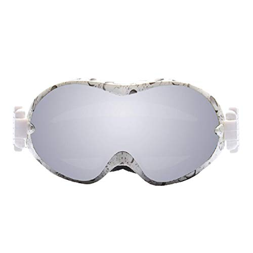 Gafas De Esquí Gran Esfera Marco De TPU Anti-FríO Antivaho Y Anti-Ultravioleta De Doble Capa Equipo Al Aire Libre CocaíNa MiopíA Unisexo,D