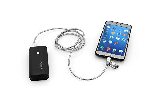 Verbatim 2-in-1 Lightning Sync + Micro-B-USB Sync- und Ladekabel - Edelstahl, 100 cm, silber, 48869