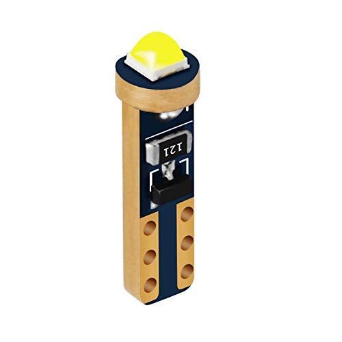 MXQ CJXIN 1 unids T5 W1.2W W3W 74 86 206 Super Super SPRANTE LED Bulbo Coche Interior Luz Auto Lado Cuña Cuña Cuadro Cuadro Lámpara de Instrumentos (Emitting Color : White)