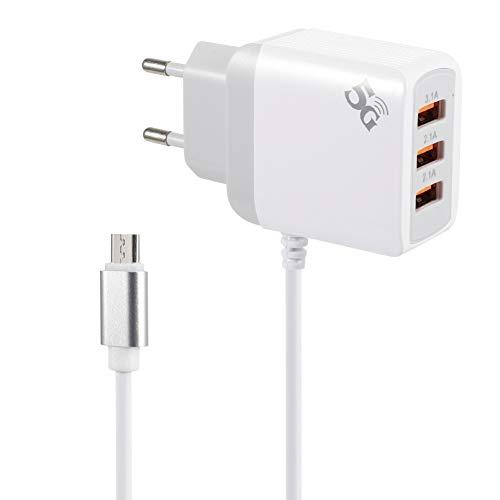 NXACETN USB 3.0 Smart Schnellladegerät Telefon Ladegerät Tragbarer 3-Port-Adapter Kompatibel mit Huawei EU Plug^
