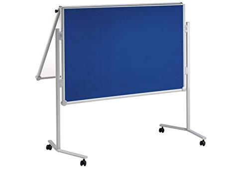 Maul 6380282 draagbare bulletbord grijs notitiebord & accessoires Textiel blauw/whiteboard inklapbaar.
