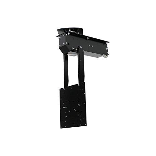 pushMAXI+ROTO - TV Deckenhalterung elektrisch schwenkbar, klappbar, neigbar, drehbar um 360° - für bis 75 Zoll Fernseher bis 40 Kg - Monitor Halter für Decke VESA bis 400x400 mm