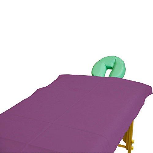 Teqler 131042pflaume Sábanas desechables para camillas de exámen y masaje, 200 cm x 70 cm (pack de 100 uds.)
