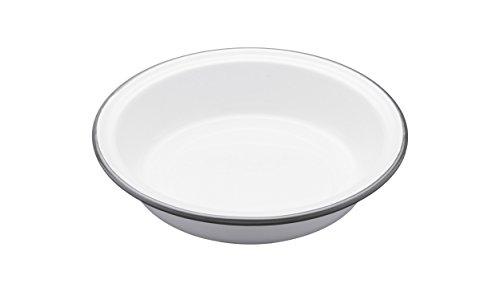 Kitchen Craft LNENRDPIE18 Plat à Tarte Living Nostalgia Rond 18cm Blanc/Gris, Porcelain, 9 x 12 x 16 cm