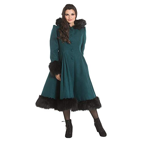 Hell Bunny Cappotto Swing Elvira - Verde Scuro XL