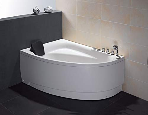 Eago 1-Person Acrylic Whirlpool Corner Bathtub
