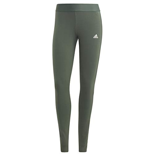 adidas Damen 3-stripes Leggings, Oxid Grßn/Weiß., XL EU