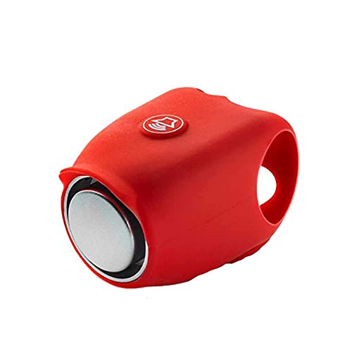 Juyuntong 2021 Super Bike Horn, Electric Cycling Bells 120 dB Horn Silicone Rainproof MTB Bicycle Handlebar Bell Shell Ring Bell Bicycle Accessories (Red)