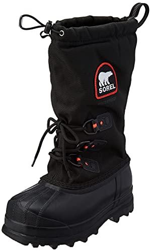 Sorel Women's Glacier XT Boot,Black/Red Quartz,9 M US