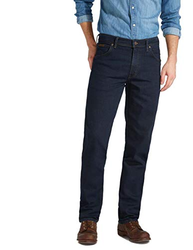 WRANGLER Jeans Texas stretch pour homme Coupe droite Bleu (001) Taille 38/30