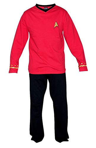 Star Trek Adult Scotty Officer Uniform Red Pajama Set Small