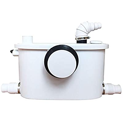 400Watt Macerator Pump for Upflush Toilet System, Connect Full Bathroom, Sink, Toilet, Water Disposal, Automatic Start and Stop, Reamer Crush Function (FLO400-1)