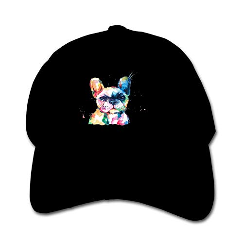 Frenchie French Bulldog Unisex Sports Cap Teen Hut Sunproof Kids Cap Hip-Hop Cap Verstellbare Baseball Cap Sun Hat für Kinder
