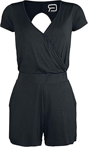 RED by EMP Schwarzer kurzer Jumpsuit mit Rückenausschnitt Frauen Jumpsuit schwarz XL