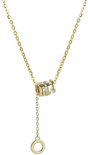 Ahuyongqing Co.,ltd Collar Damas Collar cilíndrico Romano Charm Simple