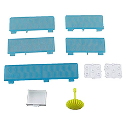 Replacement Parts for Barbie Dreamhouse Playset - FHY73 ~ Replacement Refrigerator and Balcony Racks and Rails, Chandelier and Dresser Drawer
