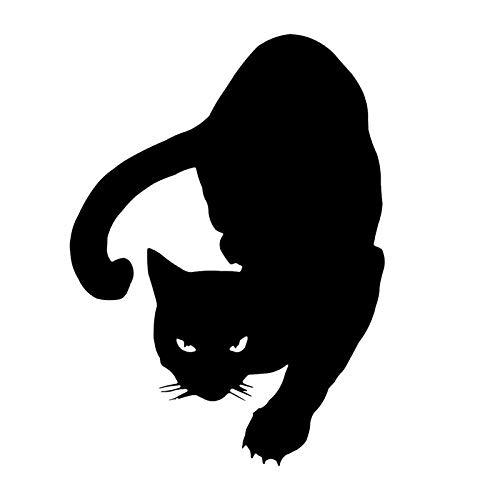 ZQZL Pegatinas de Coche Divertidas de Gato de Advertencia 11,1 * 15,2 CM Papel clásico Cubierta de Estilo de Coche Pegatinas de decoración de arañazos Pegatinas de Ordenador Pegatinas