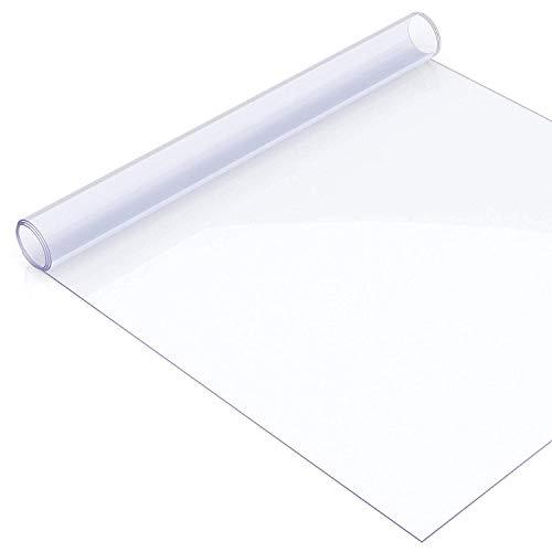uyoyous Transparent Tischdecke Tischfolie Tischschutz Schutzfolie, PVC Folie, 100x200cm, 2mm dick, Tischdecken Wasserdicht für Garten/Esszimmer/Büro