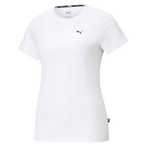 Puma Damen ESS S Logo Tee T-Shirt, White-Cat, M