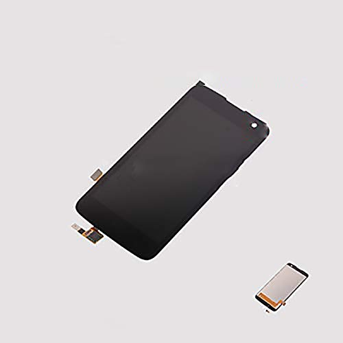 Assembly Replacement for LG K Series K4 (US Version) K120EM K120E K121 K120F K130 K130E 4G LTE Touch Digitizer LCD Screen Display (Black-no fit Dual Hole)