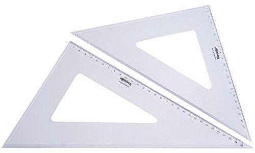 Rotring (S0237870) Centro juego de escuadras de 32cm y 37cm (juego de 2)