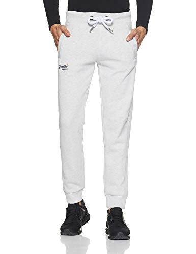 Superdry Orange Label Jogger, Pantalon De Sport Slim Couleur unie Homme, Gris (Ice Marl 54g), Large (Taille fabricant: 34)