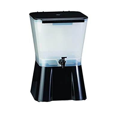 TableCraft H953 3-Gallon Beverage Dispenser Black And Clear