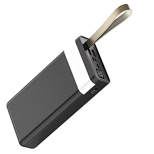 AEU 30000mAh Power Bank USB C & QC3.0 Rápido Cargador Portátil, Bateria Externa Móvil Gran Capacidad con 3 Entradas y 2 Salidas y Pantalla LCD, para Móviles y Tabletas etc,Negro
