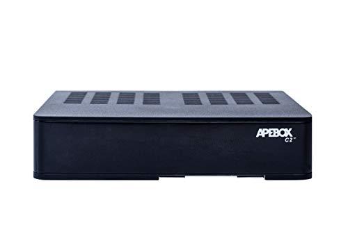 Apebox C2 4K- Receptor Combo Multistream H.265 UHD (2160p, 1x DVB-S2X + 1x DVB-T2/C, 2X USB 2.0, HDMI, LAN, Lector CA, LED Display, IR, SPDIF óptico, Cable AV, RS232,Youtube, DLNA y RCU excepcional)