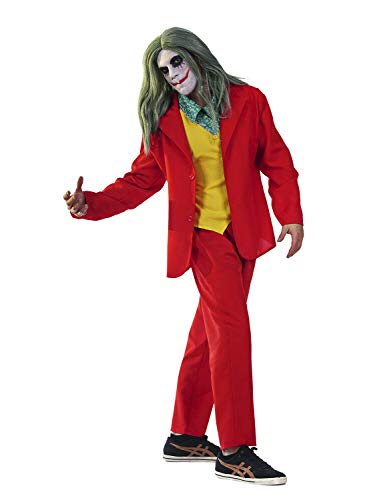 Carnaval Joker Clown Príncipe del CRIMINE Talla 7 8 9 10 11 12 (9 – 10 años: Altura niña/o 140 cm)
