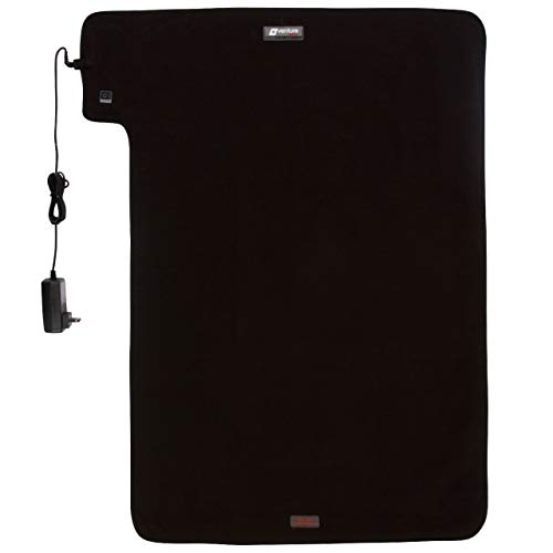 """36"""" x 24"""" XXL Venture Heat Far Infrared Heating Pad for Pain Relief Therapy - Gentle Warming, Circulation and Healing, Safe Effective Electric 60 Min Therapeutic Device (Half Body, Black)"""