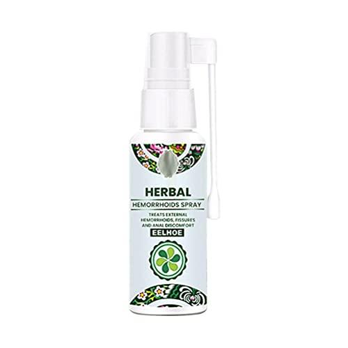 Jxfrice Haemorroides & Hair Remedies Spray, tratamiento de hemorroides y tratamiento de pilas ungüento, tratamiento de hemorroides spray natural esencia herbaria – 30 ml (sin estimulación)