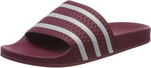 adidas Herren Adilette Aqua Schuhe, Mehrfarbig (Collegiate Burgundy/FTWR White/Collegiate Burgundy Ee6184), 43 1/3 EU
