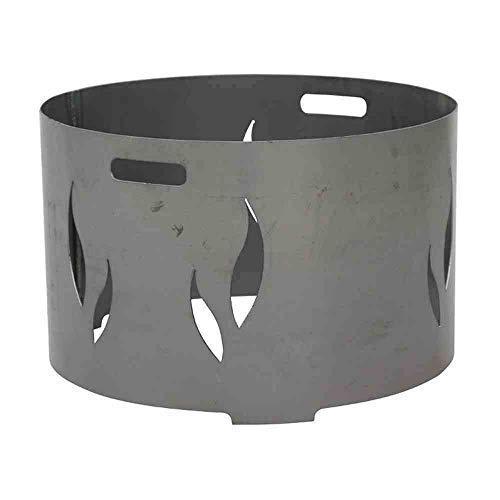 linoows Feuerschalenaufsatz mit Flammenmotiv für 55 cm Feuerschale, Flammendesign Stahl