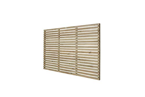 Pressure Treated Contemporary Slatted Fence Panel, 6 x 4 feet (1.8m x 1.2m)