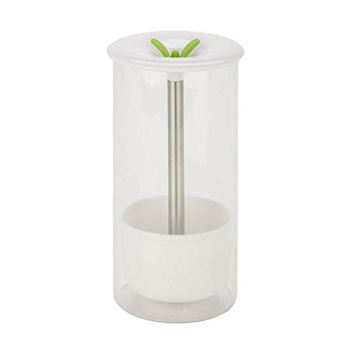 Honey-Can-Do Glass Herb Preserver, Clear/White, medium