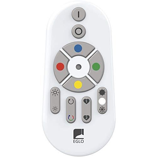EGLO connect Fernbedienung, Smart Home Fernbedienung, Remote Control für EGLO connect Leuchten, Bluetooth Zubehör für EGLO connect System, batteriebetrieben, Material: Kunststoff, Farbe: Weiß
