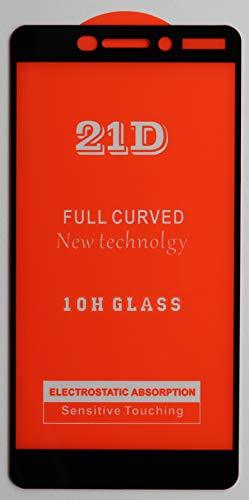 2X Full Cover Schutzglas für Nokia Nokia 6.1 in Schwarz Glasfolie 9H 5D 6D 9D Displayschutzfolie Glass Premium Tempered Glass Protection (kein 3D Glas)