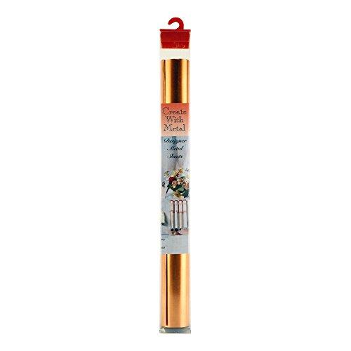 K&S Precision Metals 6020 Soft Annealed Copper Foil, 0.005 Copper, 36 Gauge, 12' Width x 30' Length, 1 pc, Made in USA