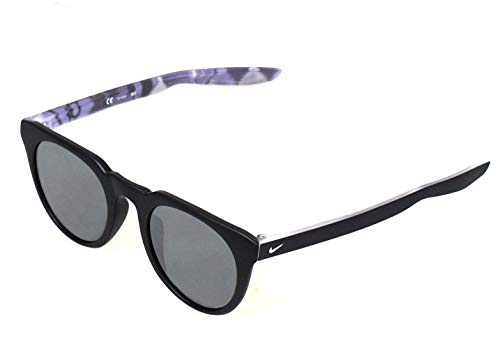 Nike EV1136-019 KD Trace Sunglasses Matte Black/White/Grey with Silver Flash Lens