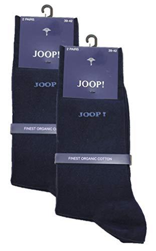 Joop Herren Socken Strümpfe klassisch dezentes Logo im 4er Pack (2x2er Pack) (43-46, navy)