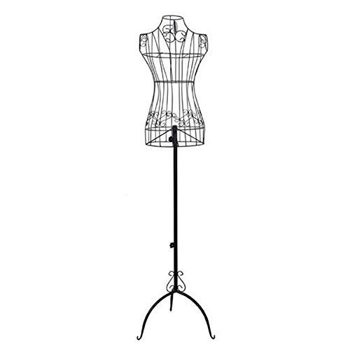 Barture Maniquí Sastres De Hierro, Maniquí Busto Altura Ajustable Fácil De Montar Adecuado for Estante De Exhibición De Ropa (Color : White)