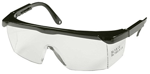 SBS® Occhiali di protezione | Nero | Staffa regolabile | con protezione frontale e laterale ottimale | Occhiali di protezione da lavoro | CE EN166