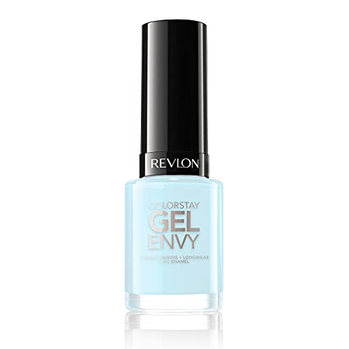 Revlon ColorStay Gel Envy Longwear Nail Polish, with Built-in Base Coat & Glossy Shine Finish, in Blue/Green, 350 To The Chapel, 0.4 oz