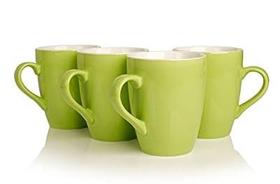 Ceramic Porcelain Tea Mugs choice of 8 colours (set of 4)